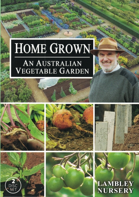 The front cover of this 2 DVD set features Lambley Principal David Glenn with snaps of his vegetable garden.
